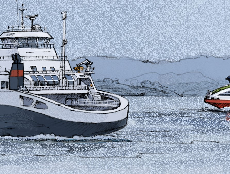 Sikkerhetsstyring og vedlikeholds systemer for hurtigbåter og ferjer